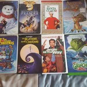 Bundle of 8 vhs tapes.  Barely used, will test b4